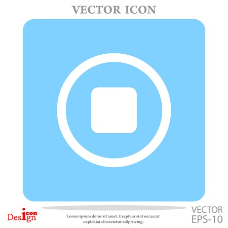 stop button vector icon