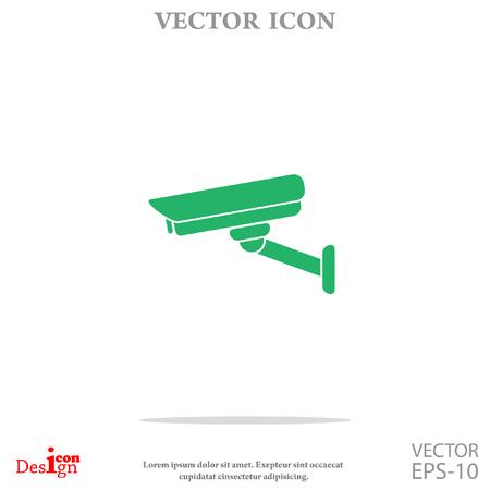 monitored: surveillance camera vector icon