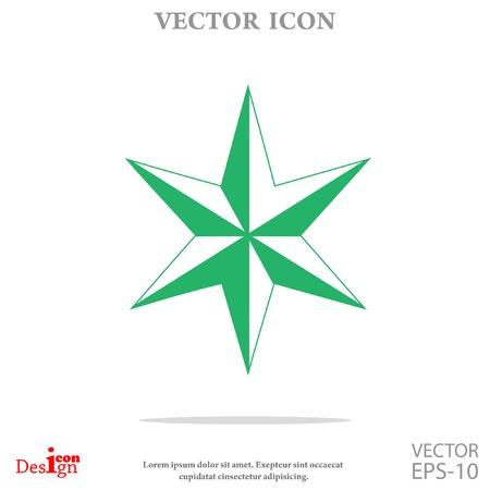 judaic: star of David vector icon