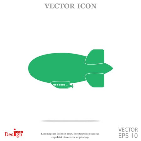 blimp: dirigible vector icon Illustration