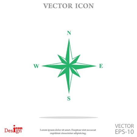 wind rose vector icon Illustration