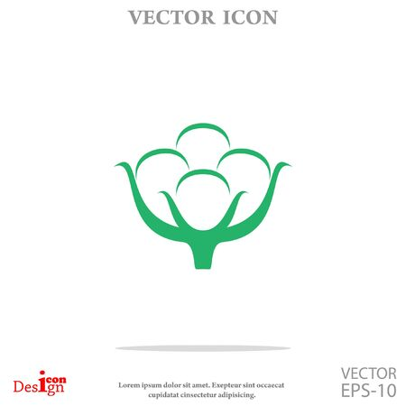 cotton vector icon