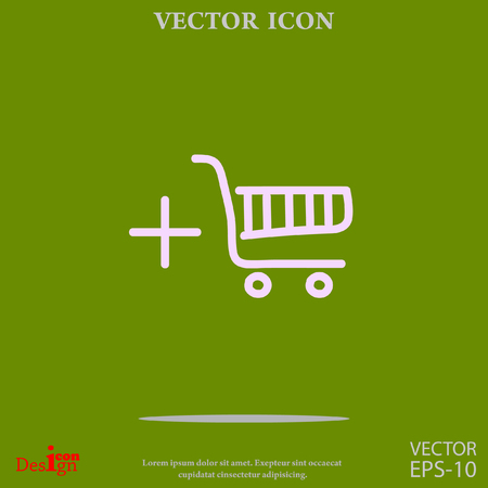 e business: shopping chart vector icon