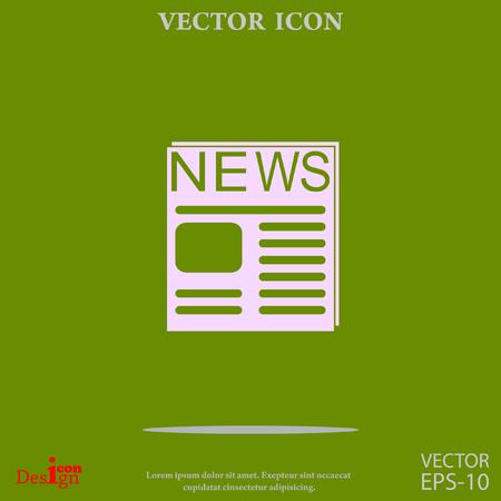 news vector icon Illustration