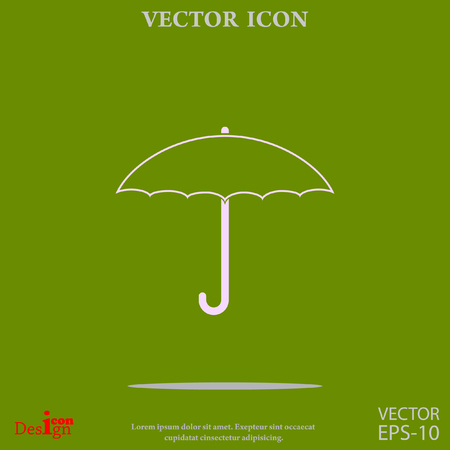 umbrella vector icon Illustration