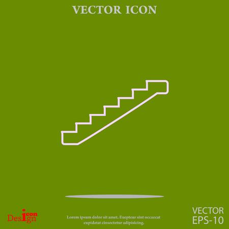 staircase vector icon Illustration