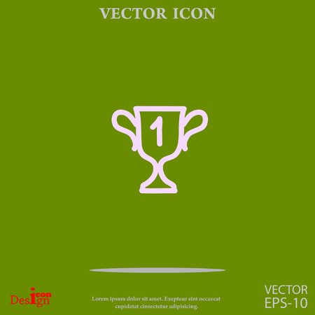champions cup vector icon