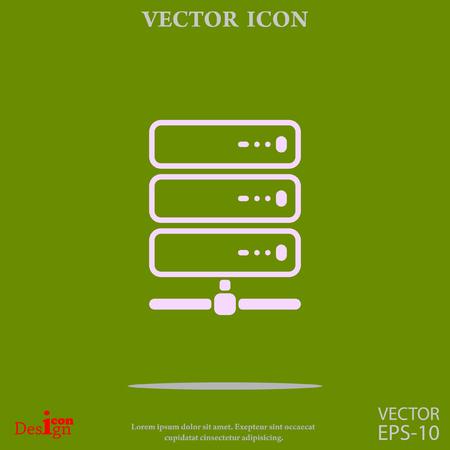 icono del vector de servidor de la computadora