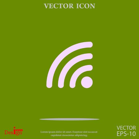 rss: rss vector icon Illustration