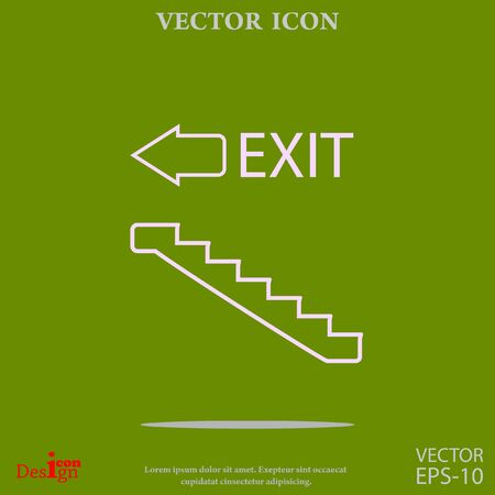 emergency stair: exit vector icon