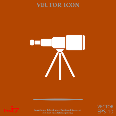 spyglass vector icon Illustration