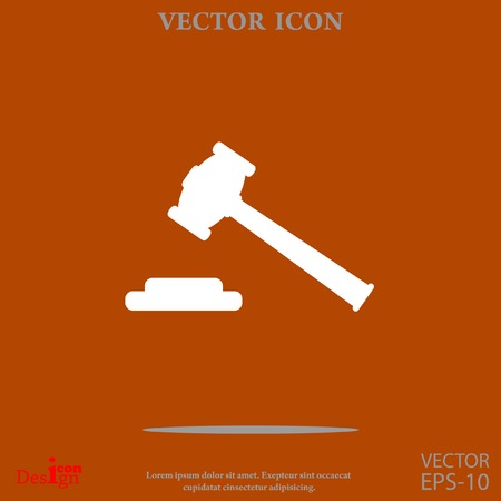 courthouse: hammer judge vector icon