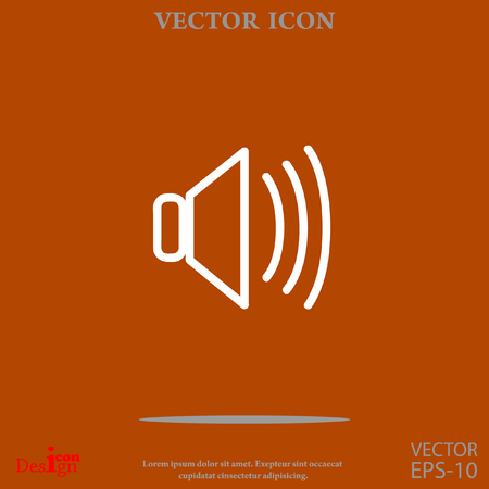 proclaim: speaker vector icon Illustration