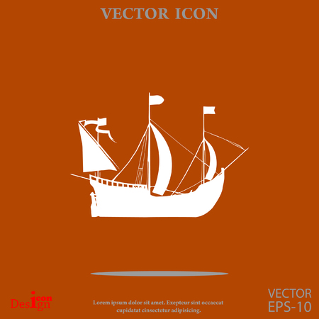 sailing ship vector icon
