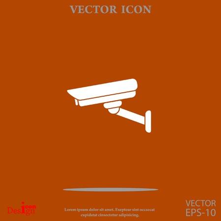 surveillance camera: Surveillance camera vector icon
