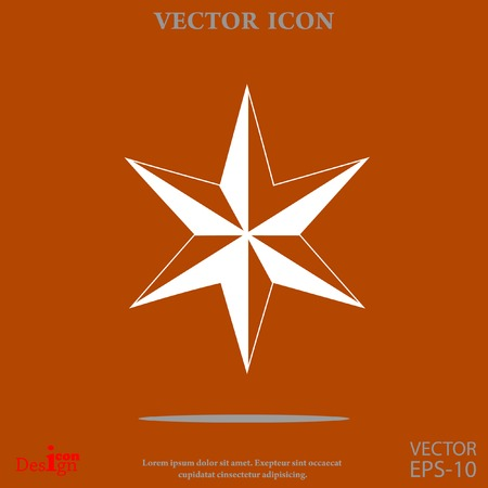 Star of David vector icon Illustration