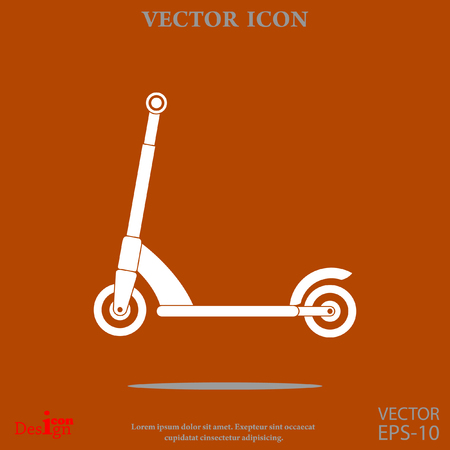 Kick scooter vector icon