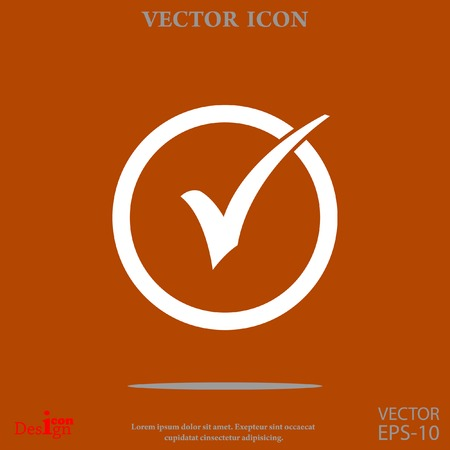 Check box vector icon Illustration