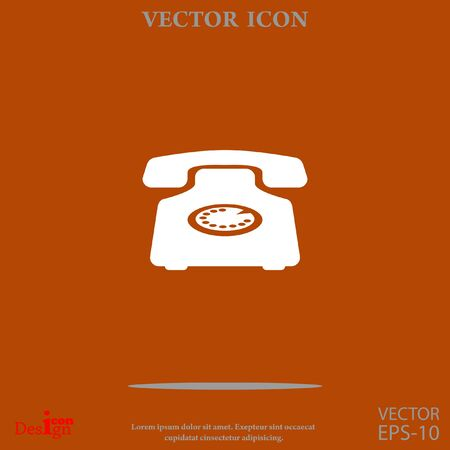 phone icon: Phone vector icon Illustration