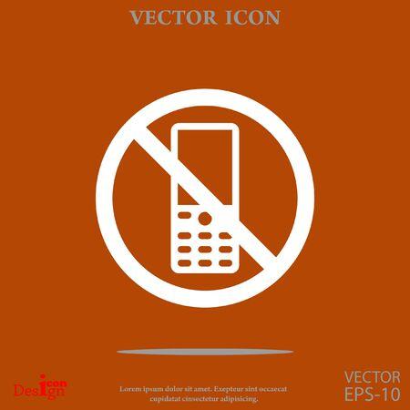 turn off phone vector icon Illustration