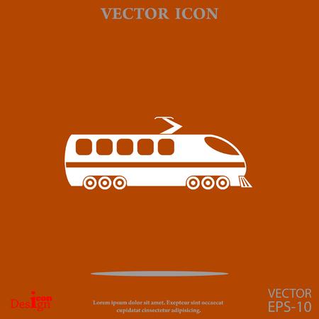 modern train vector icon Illustration