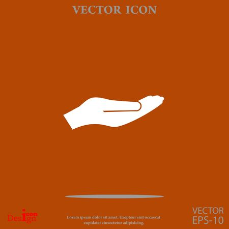 holding palm vector icon