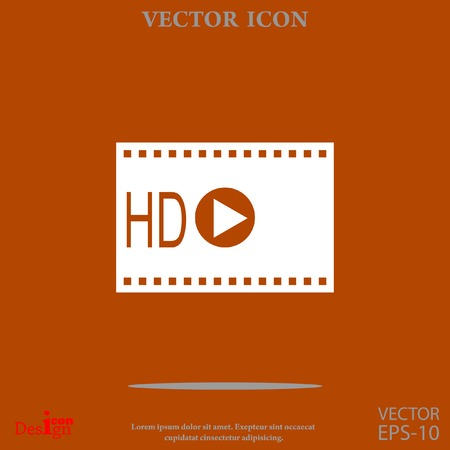 hd video vector icon Illustration