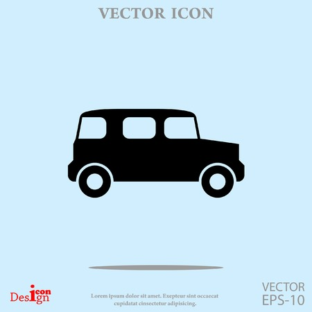 vintage car vector icon Illustration
