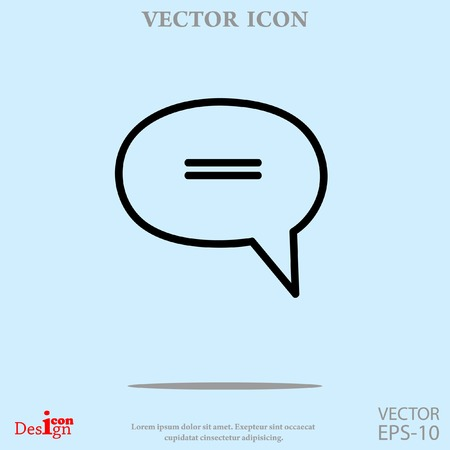instant message: message vector icon Illustration