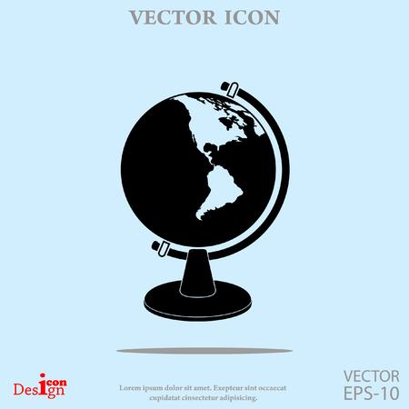 globe vector icon Illustration