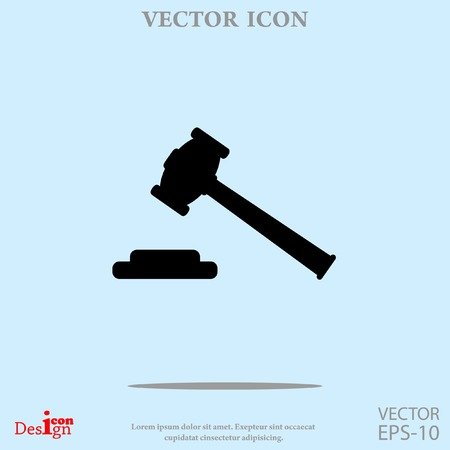 hammer judge vector icon