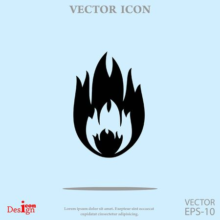 igniting: fire vector icon