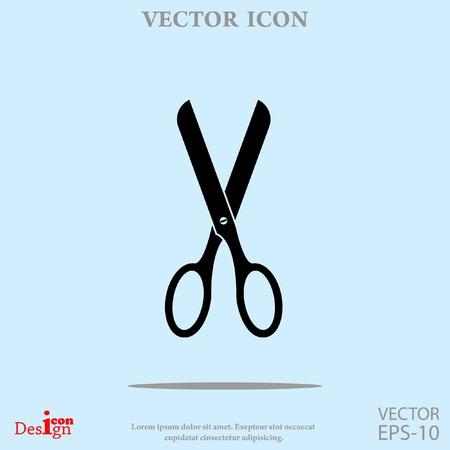 scissors icon: scissors vector icon