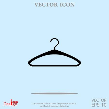 clothing rack: hatrack vector icon