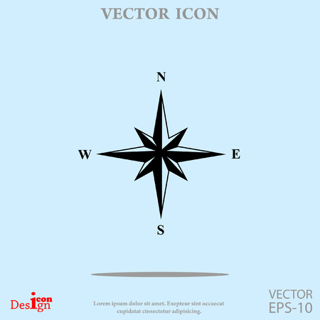 wind rose vector icon Illustration