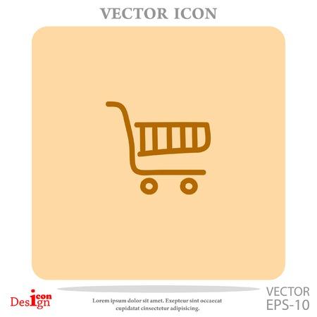 e shop: shopping chart vector icon