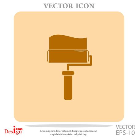 roller brush: paint roller vector icon Illustration
