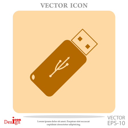 usb flash vector icon
