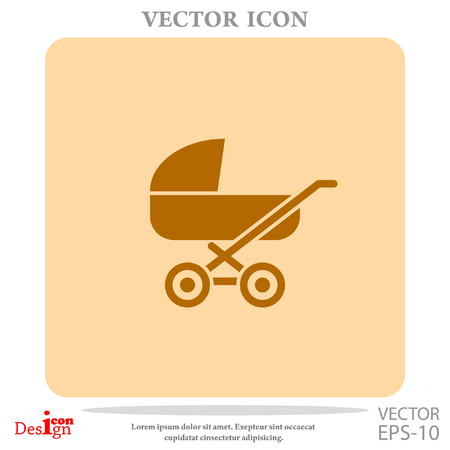 babysitting: pram vector icon