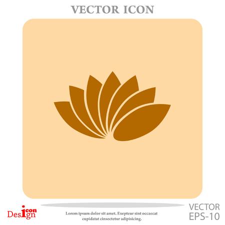 massage symbol: lotus vector icon