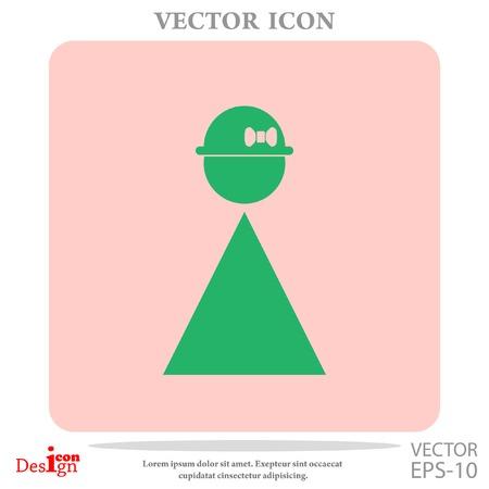 woman vector icon Illustration