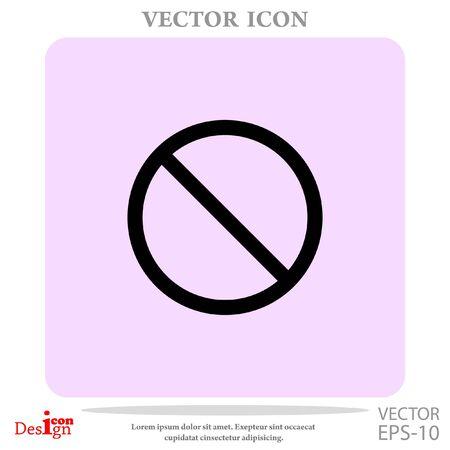 prohibit vector icon Иллюстрация