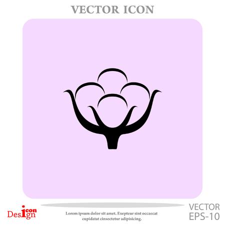 boll: cotton vector icon