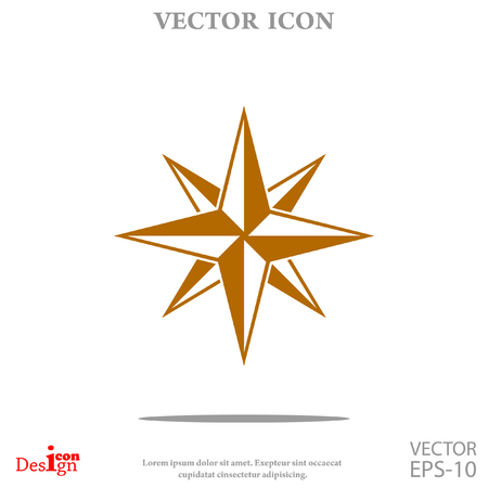 Compass vector icon Illustration