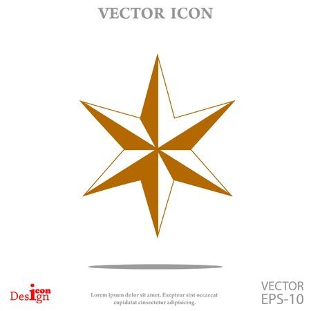 judea: Star of David vector icon Illustration