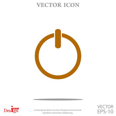 Power vector icon Illustration