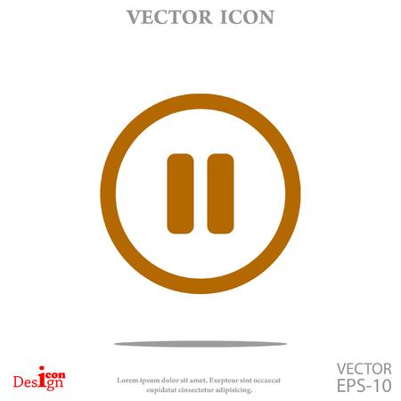 Pause button vector icon