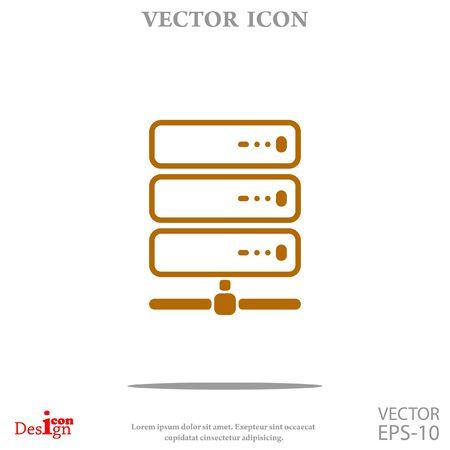 http: computer server vector icon