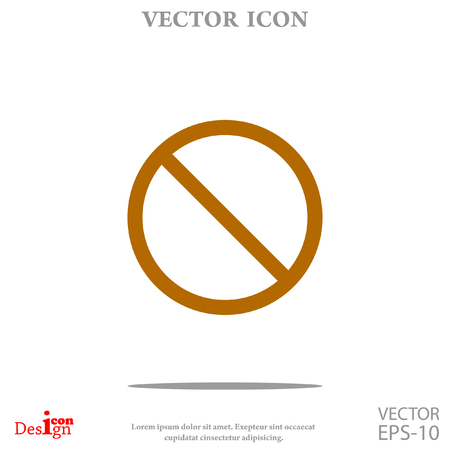 Prohibit vector icon