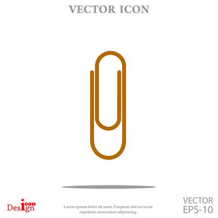 Paperclip icône vecteur